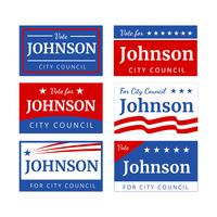 Campaign Sign Vector
