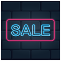 Neon sale with pink frame
