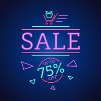 Neon Sale Sign Background vector