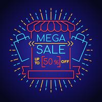 Neon Sale Background
