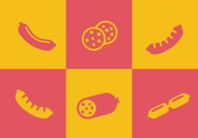 Bratwurst-Vektoren