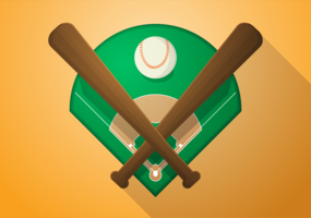 Free Vector Illustration of Baseball Diamond