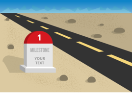 Free Vector Illustration of Milestone