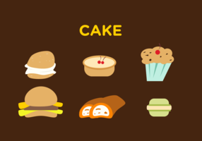 Brown Cake Vector