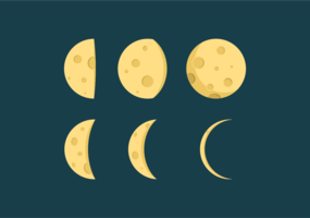 Moon Phase Vectors