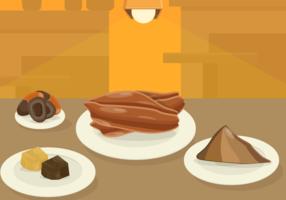 Vector de granos de cacao