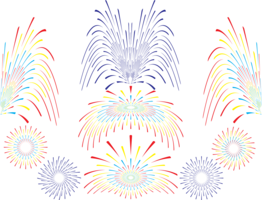 Fireworks vector set