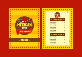 Mexican Menu Template Vector