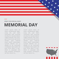 Plantilla de ilustración de decoración de Memorial Day