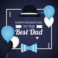 Vector Best Dad Greeting Card