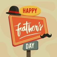 Happy Fathers Day Illustration Vector
