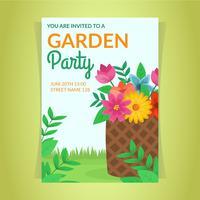 Invitación hermosa de la fiesta en el jardín