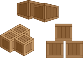 Caisses de vecteur