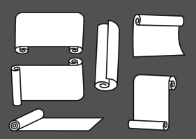 Scrolled Paper Vectors