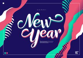 Happy New Year Background Vector Illustration