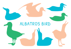 Vetor de albatroz de silhueta