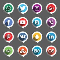 Insieme del cerchio di media sociali