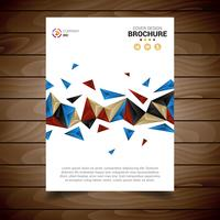 Modèle de Brochure moderne blanc avec triangles