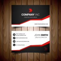 Red Steped Corporate Business Card