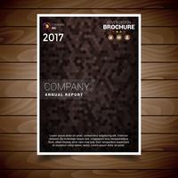 Modèle de conception de brochure texturée marron