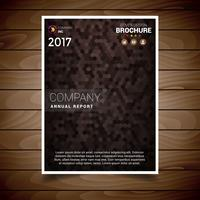 Modelo de Design de brochura texturizada marrom