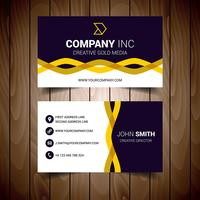 Tarjeta de visita corporativa ondulada negra y amarilla