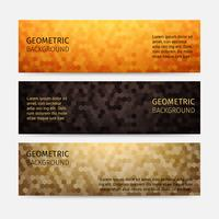Hexagon Abstract Background Header Set
