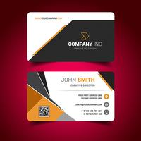 Light Business Card vector