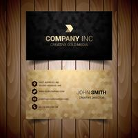 Golden And Black Business Card vector
