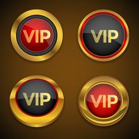 Vip goud pictogram knop