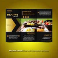 Black and gold Brochure