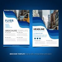 Geschäftsbroschüre-Flyer vektor