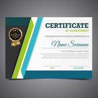Green And Blue Diploma Template vector