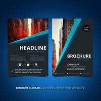 Blauwe en zwarte brochure