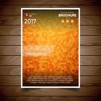 Orange Textured Brochure Design Template