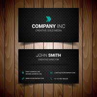 Black Dotted Corporate Business Card vector