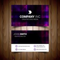 Purple Modern Business Card