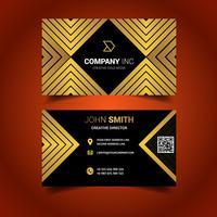 Preto e cartão de visita esquadrado ouro