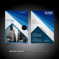 blå affär broschyr broschyr design