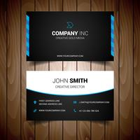 Blue And Black Elegant Business Card