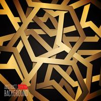 Black And Gold Background In Geometric Style vector