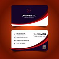 Curved Business Card vector