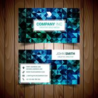 Blue And Green Abstract Corporate Business Card