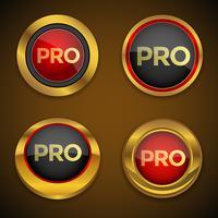 Bouton d'icône Pro Gold
