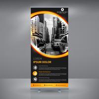 RollUp de negócios preto e amarelo