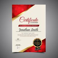 Diploma de modelo elegante