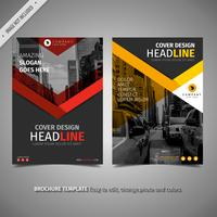 Red And Yellow Brochure vector