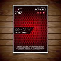 Röd texturerad broschyrdesignmall