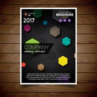 Colored Polygonal Abstract Brochure Design Template