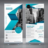 Blue Roll Up Design